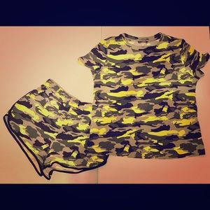 Other - 🆕Camo Neon Shorts Set
